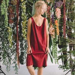 Linenfox Monstera Dress